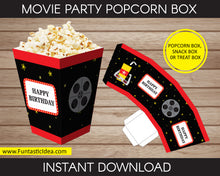 Load image into Gallery viewer, Movie Party Popcorn Box