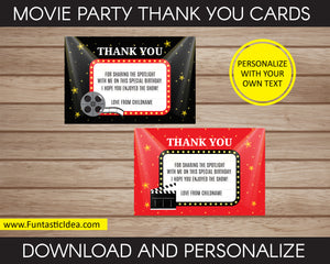 Movie Party Thank You Card