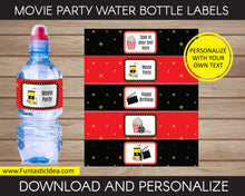 Load image into Gallery viewer, Movie Party Water Bottle Labels