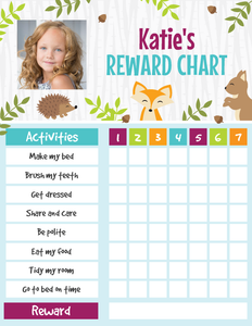 Personalized Reward Chart for Kids