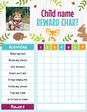 Load image into Gallery viewer, Reward Chart for Kids Printable