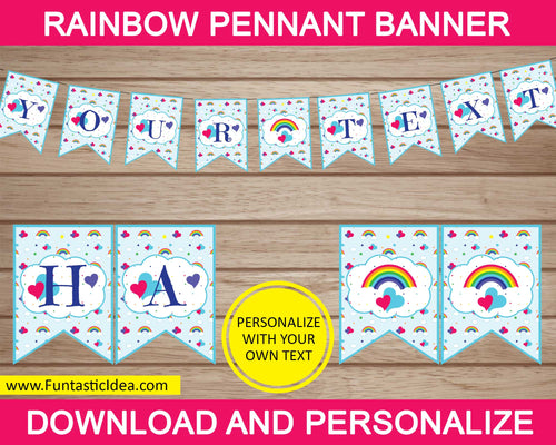 Rainbow Party Pennant Banner