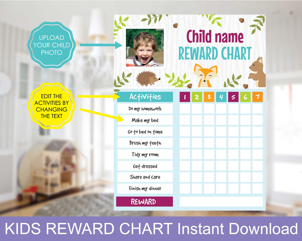 Kids Reward Chart