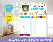 Load image into Gallery viewer, Personalized Reward Chart for Kids
