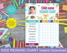 Load image into Gallery viewer, Kids Reward Chart