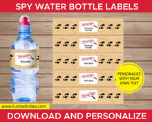 Load image into Gallery viewer, Spy Party Water Bottle Labels