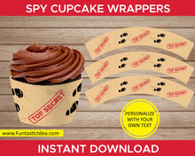 Load image into Gallery viewer, Spy Party Cupcake Wrappers