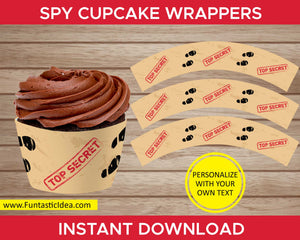 Spy Party Cupcake Wrappers