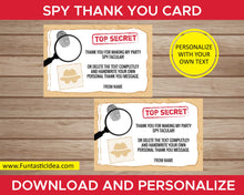 Load image into Gallery viewer, Spy Party Thank You Cards