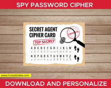 Load image into Gallery viewer, Spy Party Password Cipher