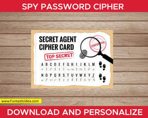 Spy Party Password Cipher