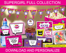 Load image into Gallery viewer, Supergirl Party Decorations