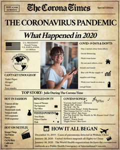 Quarantine Gift | Corona Times Newspaper Poster | Fully Editable