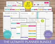 Load image into Gallery viewer, Planners Bundle