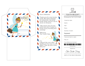 Tooth Fairy Kit | Tooth Fairy Letter | Tooth Fairy Receipt