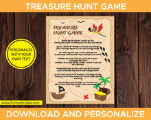 Load image into Gallery viewer, Treasure Hunt Game Instructions