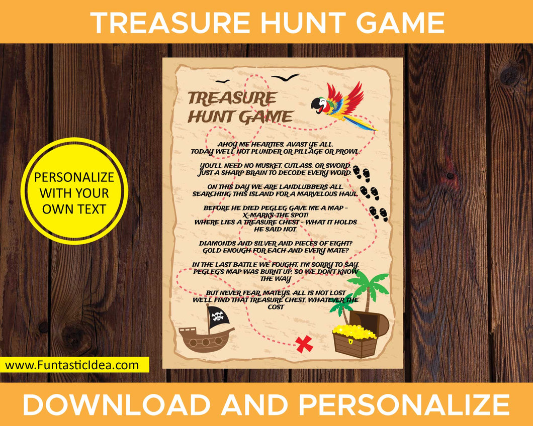Treasure Hunt Game Instructions