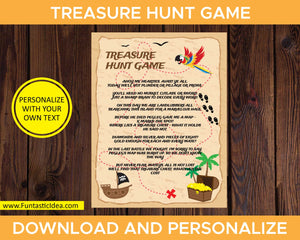 Treasure Hunt Party Game Intructions