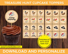 Load image into Gallery viewer, Treasure Hunt Party Cupcake Toppers