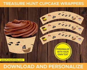 Treasure Hunt Party Cupcake Wrappers