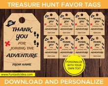 Load image into Gallery viewer, Treasure Hunt Party Favor Tags