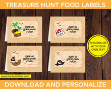 Load image into Gallery viewer, Treasure Hunt Party Food Labels
