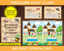 Load image into Gallery viewer, Treasure Hunt Game Clues