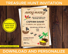 Load image into Gallery viewer, Treasure Hunt Party Invitation