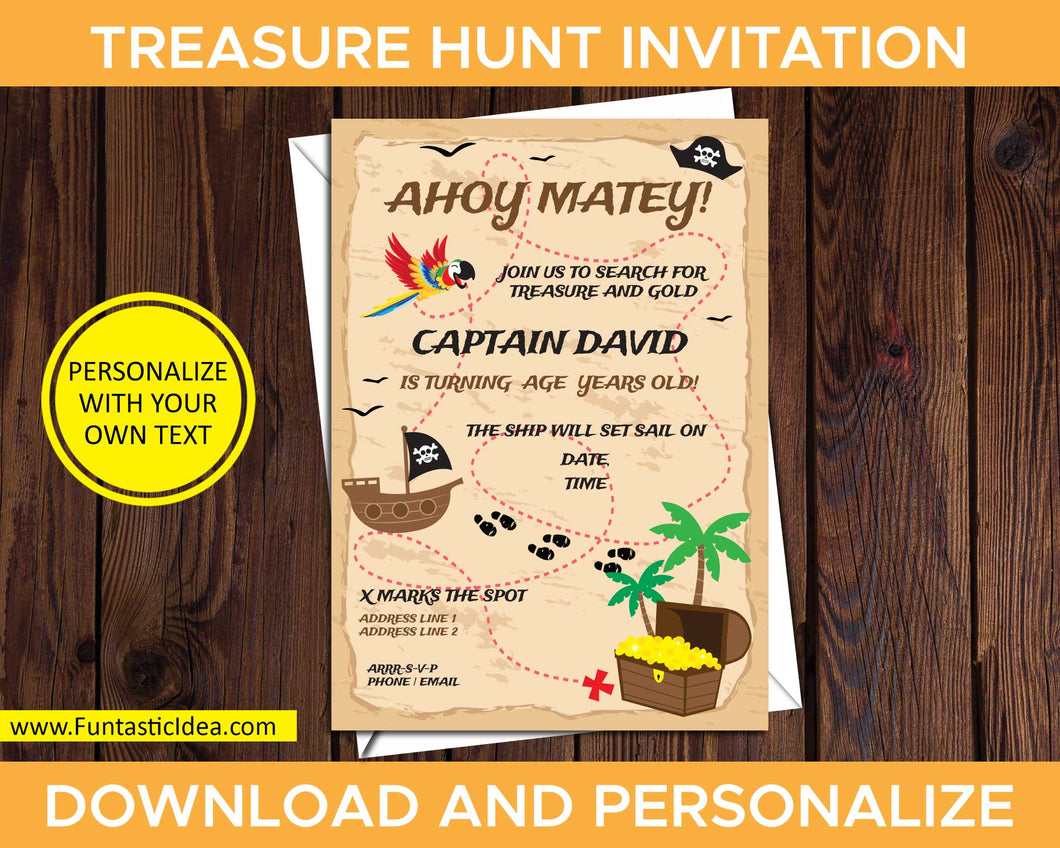 Treasure Hunt Party Invitation