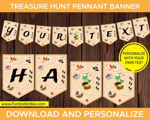 Treasure Hunt Party Pennant Banner