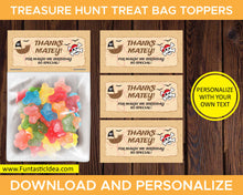 Load image into Gallery viewer, Treasure Hunt Party Treat Bag Toppers