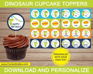 Dinosaur Party Cupcake Toppers