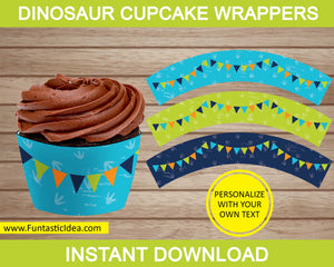 Dinosaur Party Cupcake Wrappers