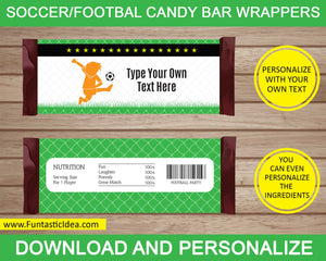 Soccer Party Candy Bar Wrappers