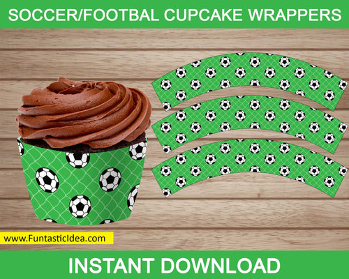 Soccer Party Cupcake Wrappers