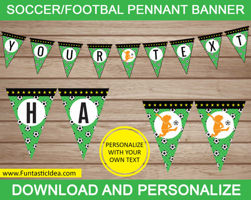 Soccer Party Pennant Banner