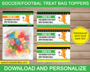 Soccer Party Treat Bag Toppers