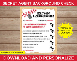 Spy Party Secret Agent Background Check