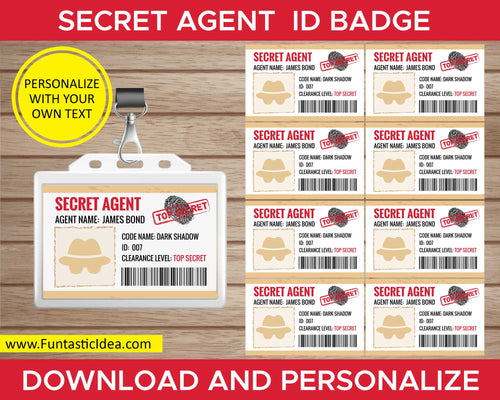 Spy Party Secret Agent ID Badge