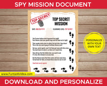 Load image into Gallery viewer, Spy Party Mission Document Written in Rhymes