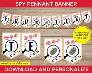 Spy Party Pennant Banner