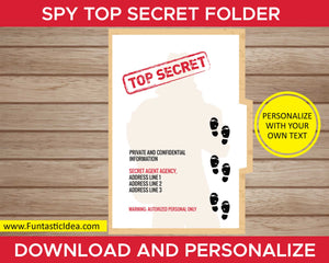 Spy Party Invitation Folder
