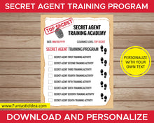 Load image into Gallery viewer, Spy Party Secret Agent Training Academy Document