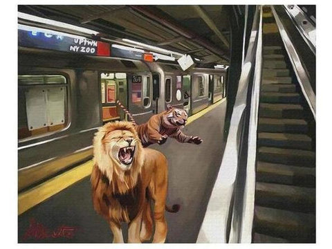 THE SUBWAY LIONS.-Artistic Giclee prints-scottbenites