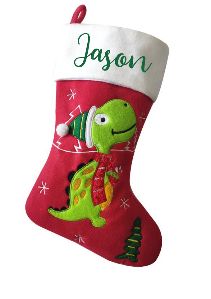 Personalised Christmas Santa Sack -  Dinosaur Special Delivery design