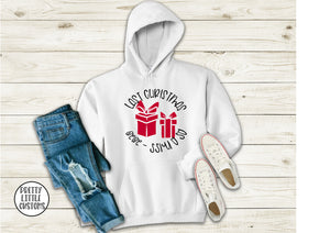 Last Christmas as a Miss 2020 - presents design hoody