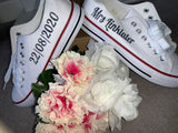 Bridal party trainers / shoes / converse iron on vinyl transfers / decals - standard or glitter