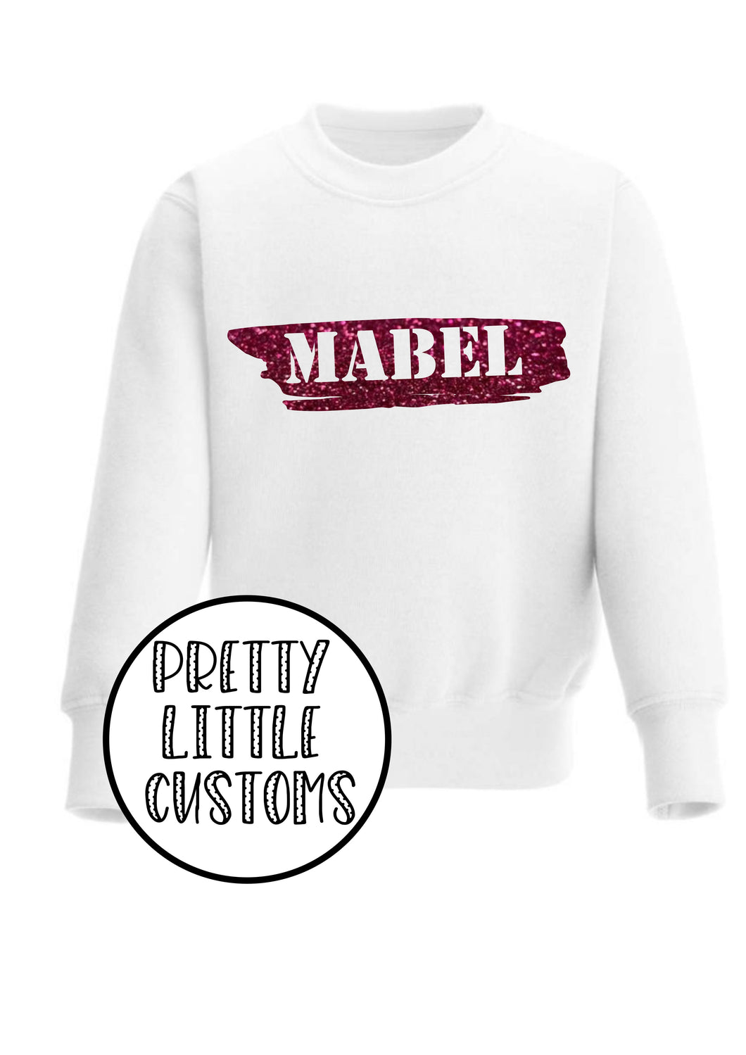 Personalised Kids Glitter Name sweater