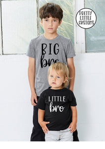Big bro, little bro siblings t-shirt set