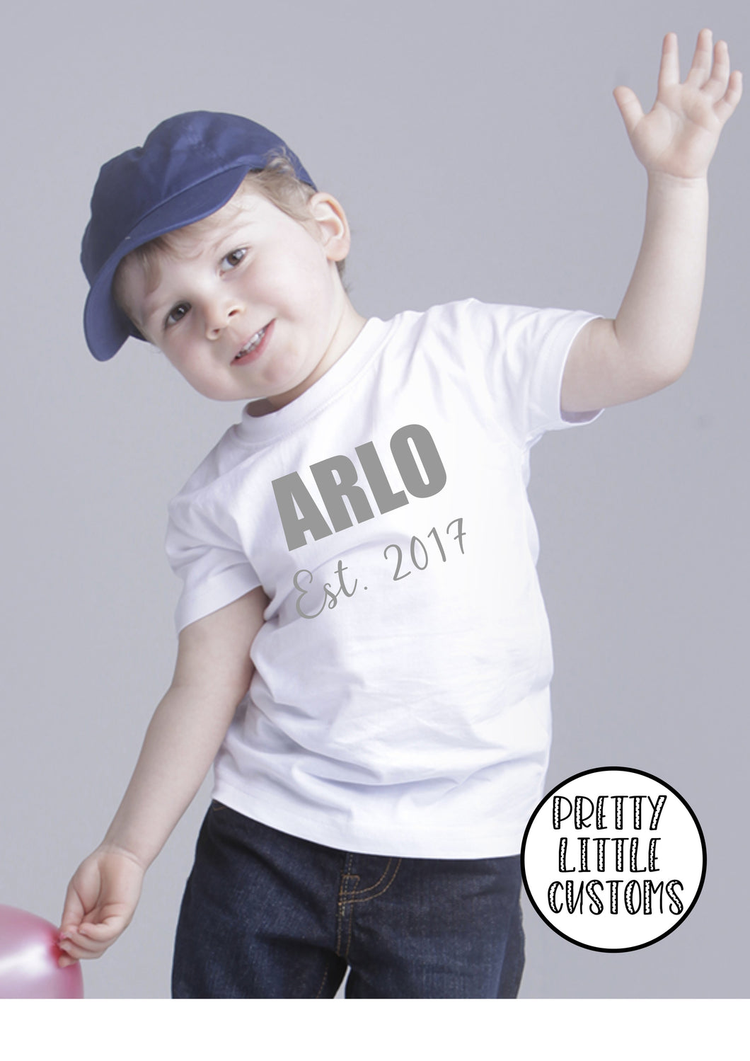 Personalised kids Est. t-shirt - your name & year